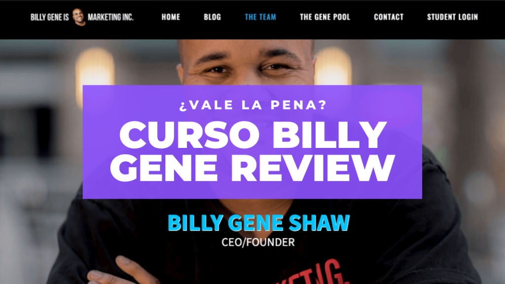 Curso Billy Gene Review